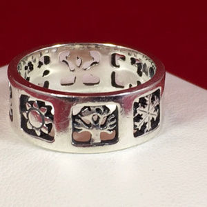 James Avery RETIRED Sterling FOURSEASONS Band Ring